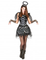 Disfraz de ángel gótico para mujer
