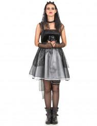 Disfraz de novia gótica para mujer