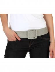 Cinturón brillante plateado para mujer