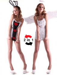 Disfraz reversible de angel y conejo