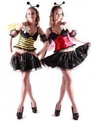 Disfraz reversible de abeja y mariquita
