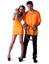 Disfraz de pareja de prisioneros naranja