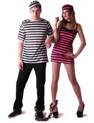 Disfraz de pareja de prisioneros