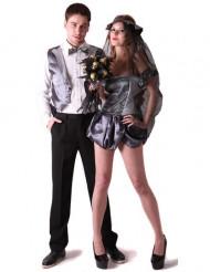 Disfraz de pareja de novios góticos