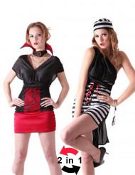 Disfraz reversible de preso y vampiro para mujer