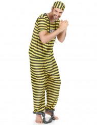 Disfraz de prisionero amarillo para hombre