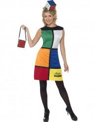 Disfraz de Cubo de Rubik mujer