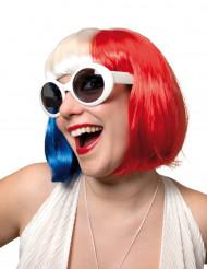 Peluca tricolor mujer