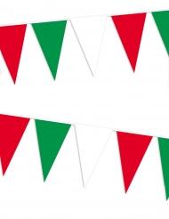 Guirnalda con banderitas italianas