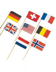 Palillos con banderitas