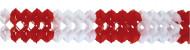 Guirnalda roja y blanca