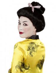 Peluca de geisha negra