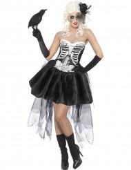 Disfraz de esqueleto macabro para mujer