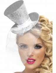 Mini sombrero plateado