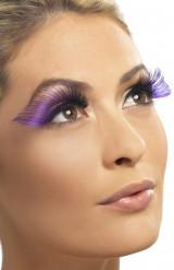 Pestañas postizas violetas