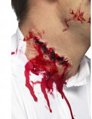 Maquillaje herida en el cuello