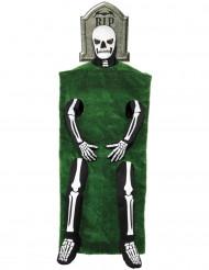 Disfraz de esqueleto y tumba Halloween