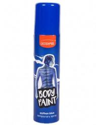 Spray para cabello y cuerpo de color azul