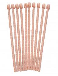 10 palitos con forma de pene