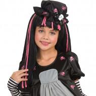 Peluca Black Dolly para niña