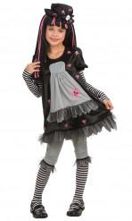 Disfraz gótico Black Dolly para niña