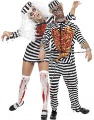 Disfraz de pareja de presos zombies