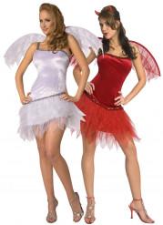 Disfraz de parejas de angel y demonio