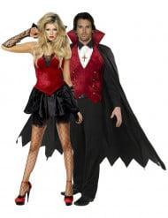 Disfraz de pareja de vampiros