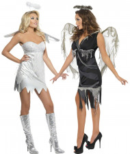 Disfraz de pareja de ángeles