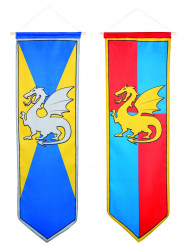 Banderines caballero medieval