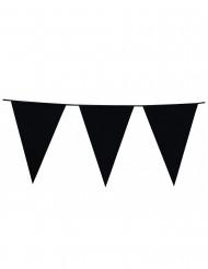 Guirnalda de banderines de color negro
