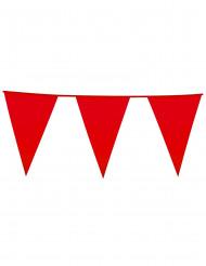 Guirnlada de banderines de color rojo