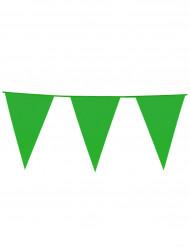 Guirnalda de banderines de color verde