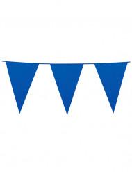 Guirnalda de banderines de color azul