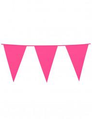 Guirnalda de banderines de color rosa