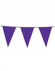 Guirnalda de banderines de color violeta