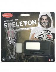 Kit de maquillaje esqueleto Halloween