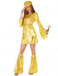 Disfraz disco dorado mujer