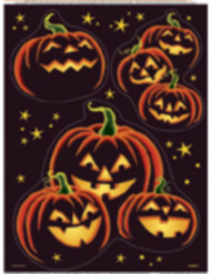 Pegatinas para ventanas calabaza negra Halloween