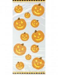 20 bolsas de celofán calabaza Halloween