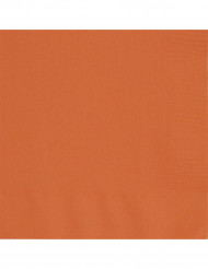 20 servilletas de papel de color naranja