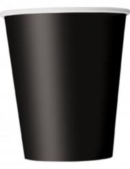 8 vasos de plástico negro