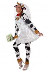 Disfraz de vaca novia para mujer
