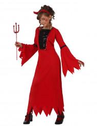 Disfraz de diablesa lentejuelas para niña