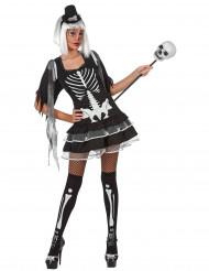 Disfraz de esqueleto sexy para mujer