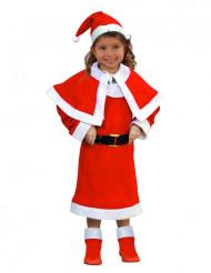 Disfraz de Mamá Noel para niña con capa