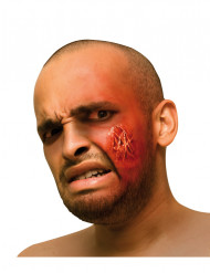 Herida falsa para la cara erupción