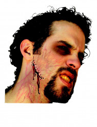 Herida falsa con grapas