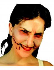 Falsa herida sonrisa del payaso Halloween