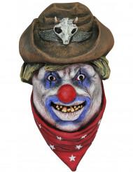 Máscara de payaso cowboy